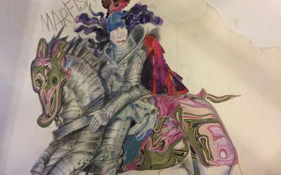 Tavole antiche e disegni di Grazia Nidasio, L'Orlando furioso festeggia 500 anni